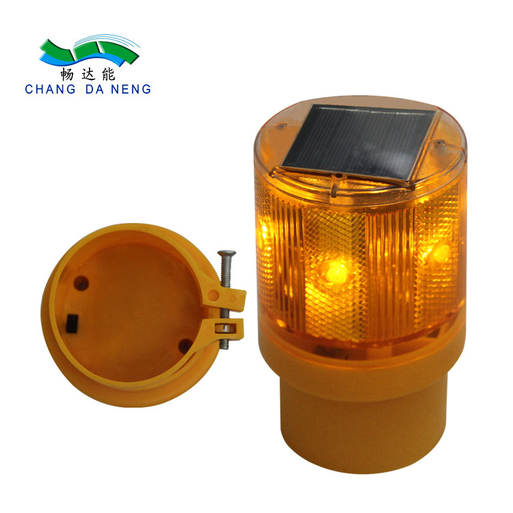 PC Solar Powered  LED Traffic Barricade Warning light road flashing light