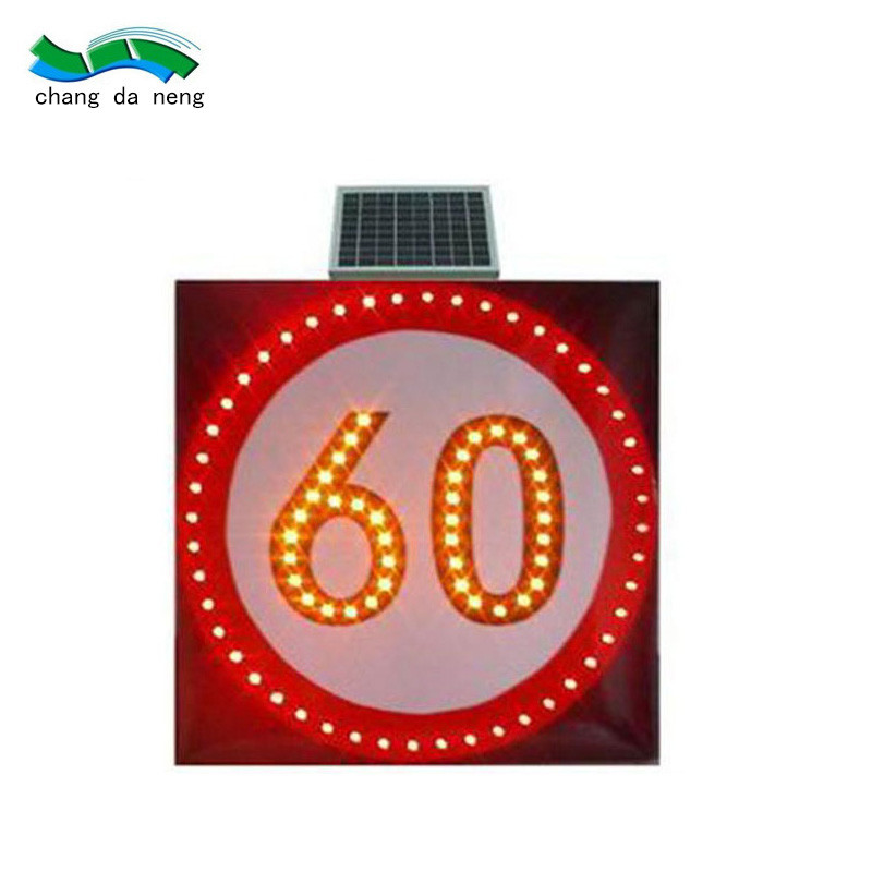 Bright solar traffic signal  led speed limit signpost 10v pedestrian traffic warning
